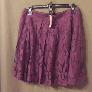Purple lace skirt